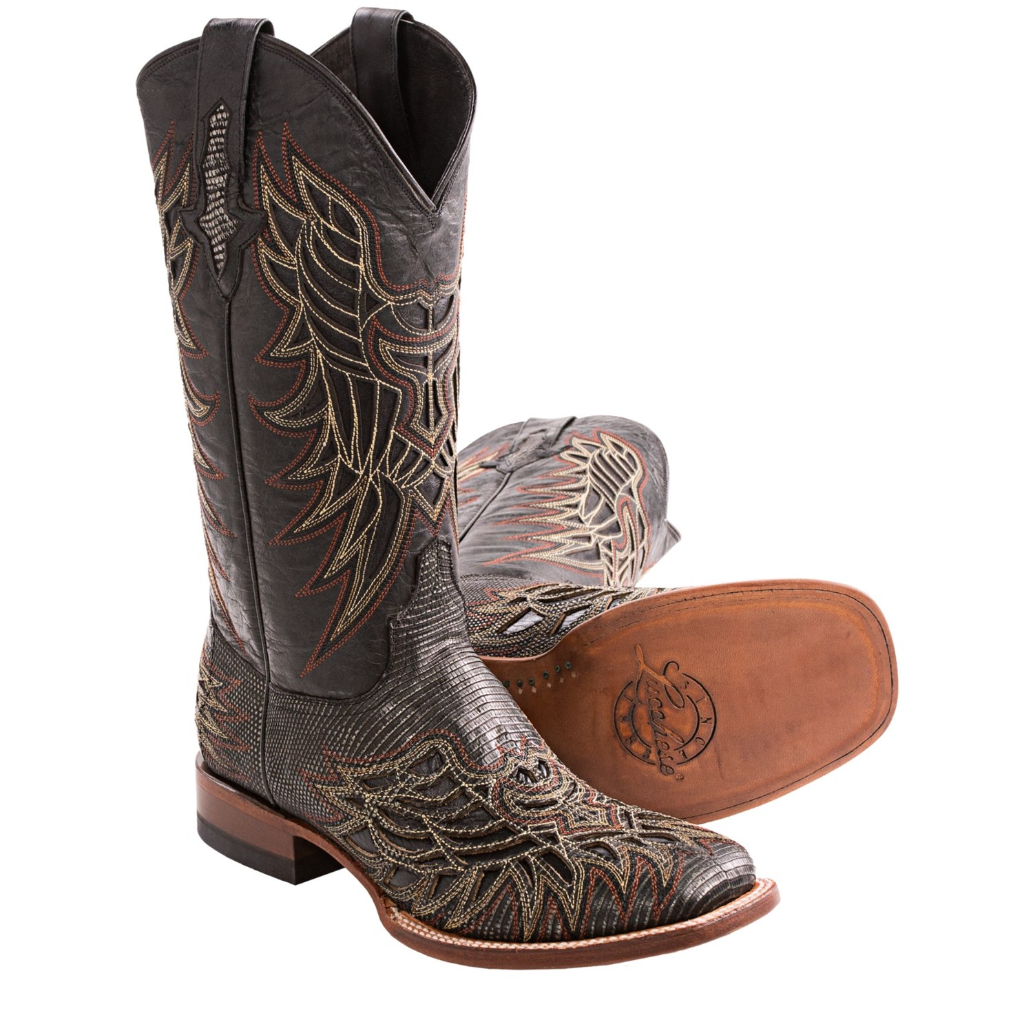 1883 by lucchese lizard cowboy boots leather for