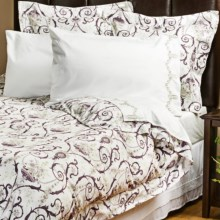 1891 by Sferra Adara Sateen Duvet Set - 300 TC, King in Eggplant - Overstock