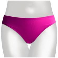 2 Bamboo Solid Bikini Swimwear Bottoms - Hi Cut (For Women) in Fuschia - Closeouts