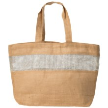 "2 Chic Luxe by Muche et Muchette Alexandria Bag - 22x14"" in Jute - Closeouts"