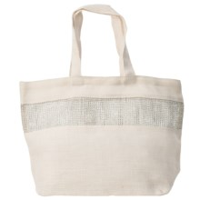 "2 Chic Luxe by Muche et Muchette Alexandria Bag - 22x14"" in White - Closeouts"