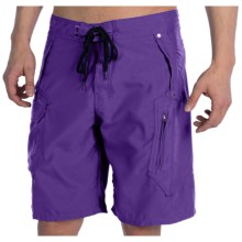 2-Pocket Cargo Boardshorts (For Men) in Purple - 2nds