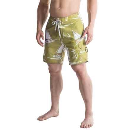 2-Pocket Drawstring Waist Boardshorts (For Men) in Hemp - 2nds