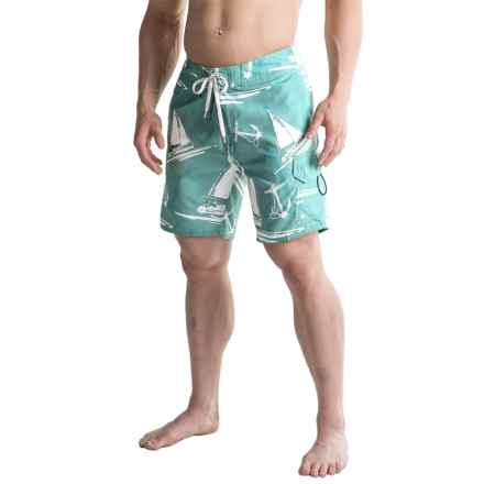 2-Pocket Drawstring Waist Boardshorts (For Men) in Stone Blue - 2nds