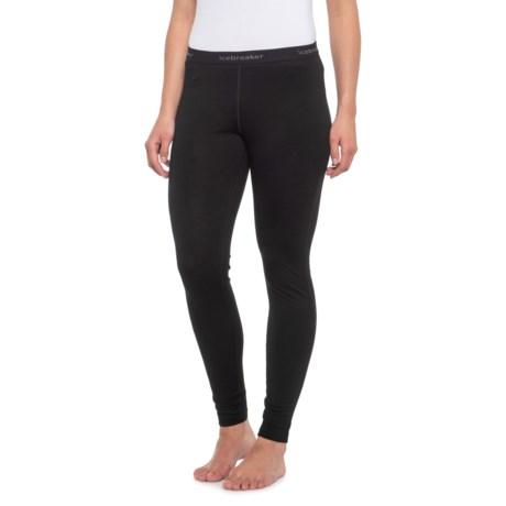 200 Oasis Base Layer Pants - Merino Wool (For Women) - BLACK (XL ) thumbnail
