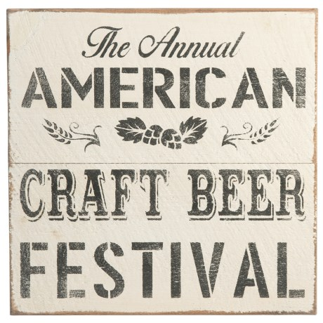 """Image of 20x20"""" American Craft Beer Festival Sign"""