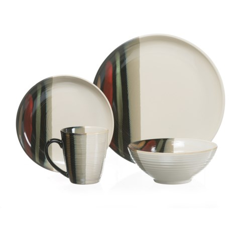 222 Fifth Alpha Stoneware Dinnerware Set -16-Piece