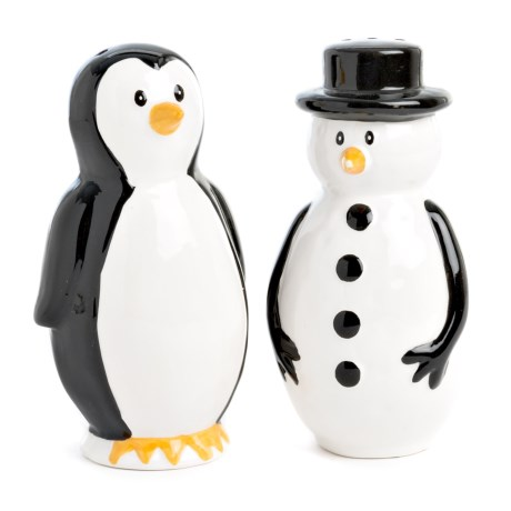 222 Fifth Arctic Holiday Earthenware Salt and Pepper Shaker Set - 2-Piece in Multi