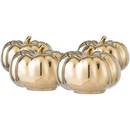 222 Fifth Pumpkin Soup Bowl with Lid - Set of 4 in Gold - Closeouts
