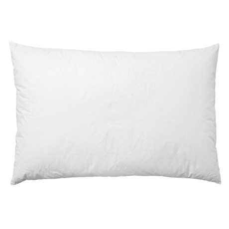 Image of 233 White Natural Grey Duck Down Pillow - Jumbo