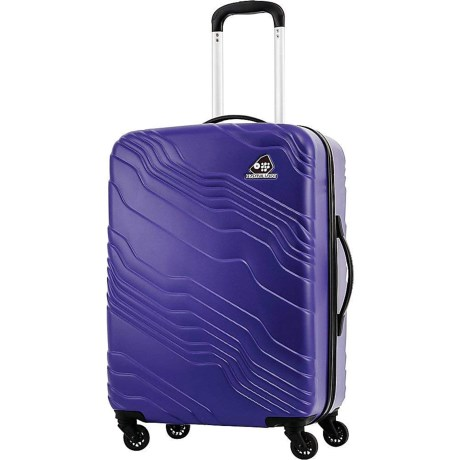 Closeout. Sleek, modern and designed to maximize space, this Kamiliant Kanyon hardside spinner suitcase includes an inner zip divider that creates two separate compartments. The hard shell design is lightweight yet incredibly protective, too! Available Colors: ROYAL BLUE, SAND, SILVER.