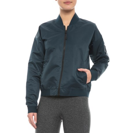 Image of 247 Luxe Sateen Bomber Jacket (For Women)