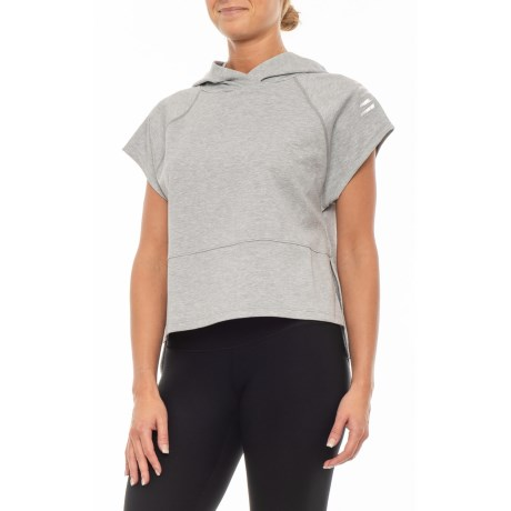Image of 24/7 Sport Cropped Hoodie - Short Sleeve (For Women)
