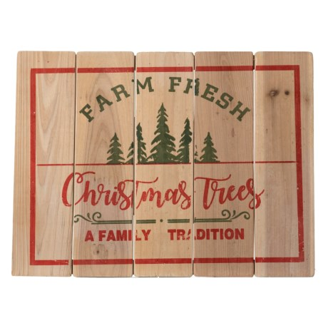 Image of 24x18? Farm Fresh Christmas Trees, A Family Tradition Driftwood Sign