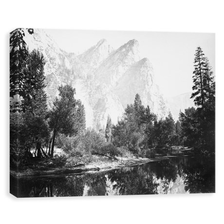 Image of 24x18? The Three Brothers Yosemite Printed Canvas