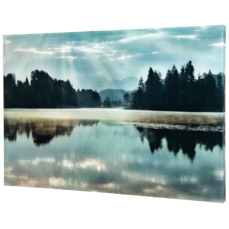 Image of 24x36? Morning Bliss Lake Landscape Wall Art