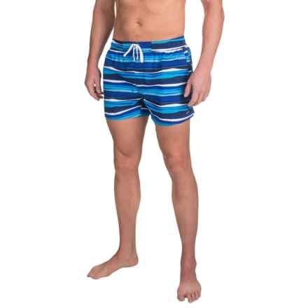 2(x)ist Awning Stripe Ibiza Swim Shorts (For Men) in Estate Blue - Closeouts