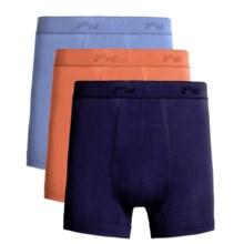 2(x)ist Boxer Briefs - 3-Pack (For Men) in Blueprint/Orange/Azure Blue - Closeouts