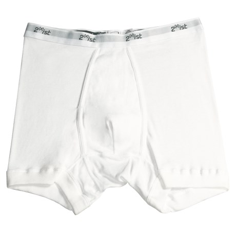 2(x)ist Boxer Briefs - Cotton (For Men) in White