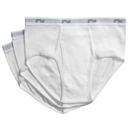 2(x)ist Briefs - Cotton, 3-Pack (For Men) in White - Closeouts