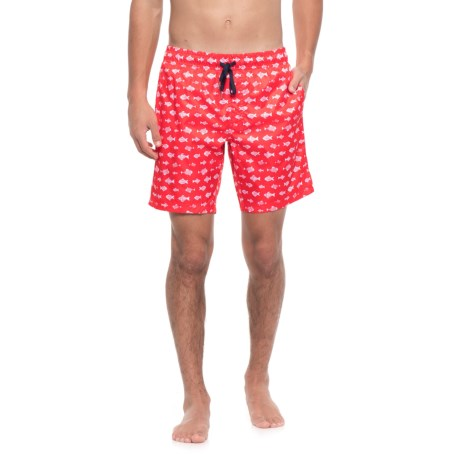 2(x)ist Catalina Micro Fish Swim Shorts (For Men) in Red