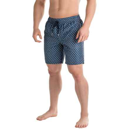 2(x)ist Catalina Print Swim Shorts (For Men) in Wave/Varsity Navy - Closeouts