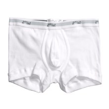 2(x)ist Cotton No Show Trunks (For Men) in White - Closeouts