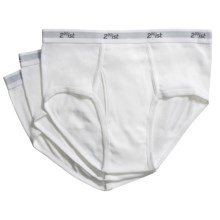 2(x)ist Cotton Underwear Briefs - 3-Pack (For Men) in White - Closeouts