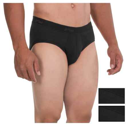 2(x)ist Essential Contour Pouch Briefs - 3-Pack (For Men) in Black - Closeouts