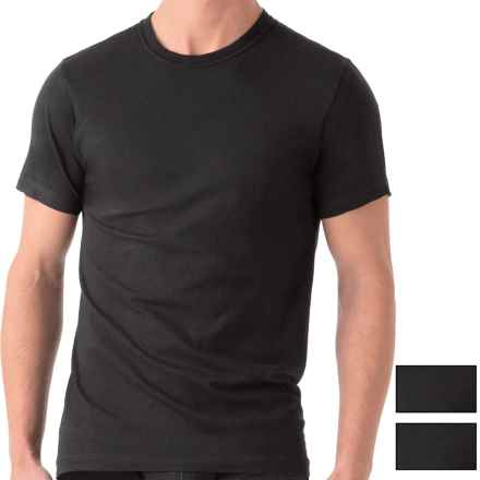 2(x)ist Essential Crew Neck T-Shirt - 3-Pack, Short Sleeve (For Men) in Black - Closeouts