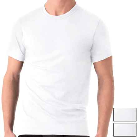 2(x)ist Essential Crew Neck T-Shirt - 3-Pack, Short Sleeve (For Men) in White - Closeouts