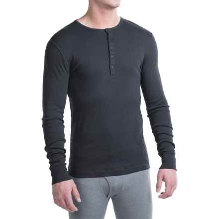 2(x)ist Essential Henley Shirt - Long Sleeve (For Men) in Black - Closeouts
