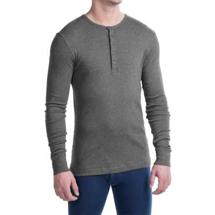 2(x)ist Essential Henley Shirt - Long Sleeve (For Men) in Charcoal Heather - Closeouts