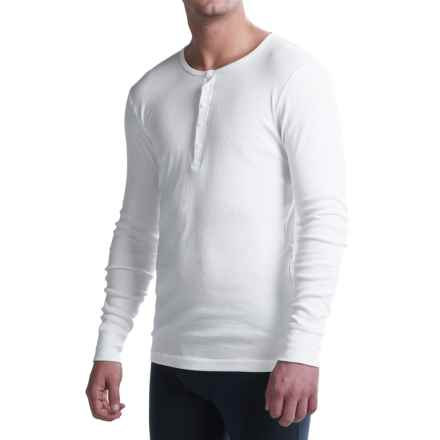 2(x)ist Essential Henley Shirt - Long Sleeve (For Men) in White - Closeouts