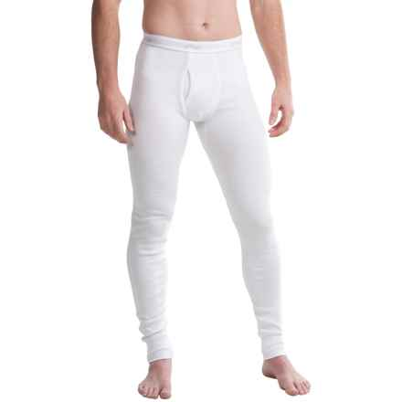 2(x)Ist Essential Long Underwear Pants - Cotton (For Men) in White - Closeouts