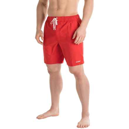 2(x)ist Essential Maui Solid Swim Shorts (For Men) in Salsa Red - Closeouts