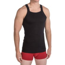 2(x)ist Essential Square Cut Tank Top - 2-Pack (For Men) in Black - Closeouts