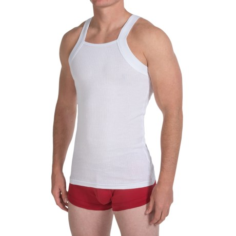 2(x)ist Essential Square Cut Tank Top 2 Pack (For Men)
