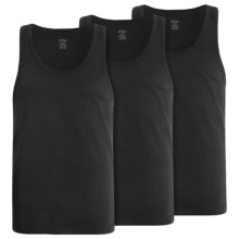2(x)ist Essential Stretch Tank Top- 3-Pack (For Men) in Black - Closeouts