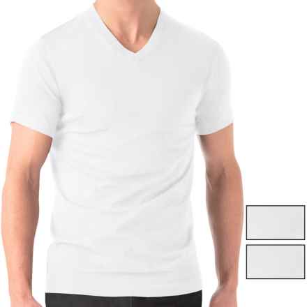 2(x)ist Essential V-Neck T-Shirt - 3-Pack, Short Sleeve (For Men) in White - Closeouts