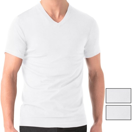 2(x)ist Essential V Neck T Shirt 3 Pack, Short Sleeve (For Men)