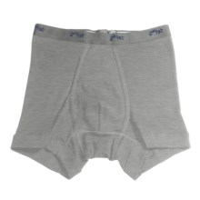 2(x)ist Fine Cotton Boxer Brief (For Men) in Heather Grey - Closeouts