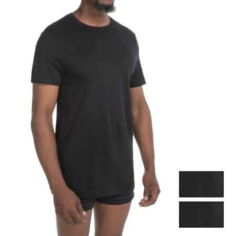 2(x)ist Jersey Crew T-Shirts - 3-Pack, Short Sleeve (For Men) in Black