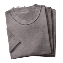 2(X)ist Jersey Crew T-Shirts - 3-Pack, Short Sleeve (For Men) in Heather Grey - Closeouts
