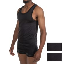 2(x)ist Jersey Tank Top - 3-Pack (For Men) in Black - Closeouts