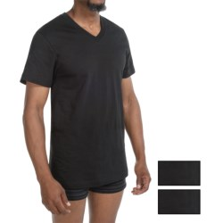 2(x)ist Jersey V-Neck T-Shirts - 3 Pack (For Men) in Black