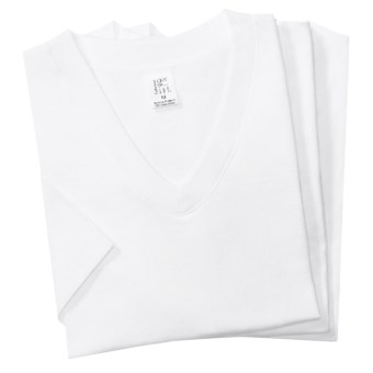 2(x)ist Jersey V-Neck T-Shirts - 3 Pack (For Men) in White