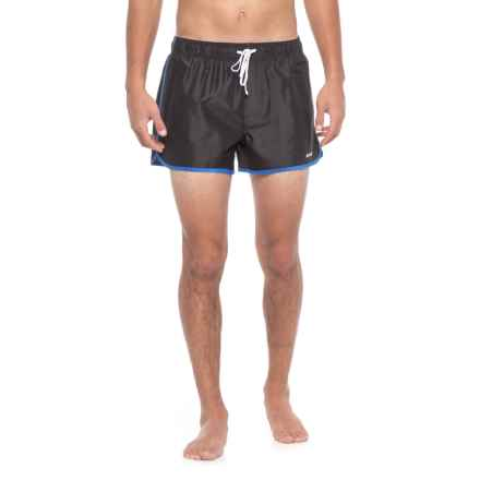 2(x)ist Jogger Swim Trunks - Built-In Briefs (For Men) in Black - Closeouts
