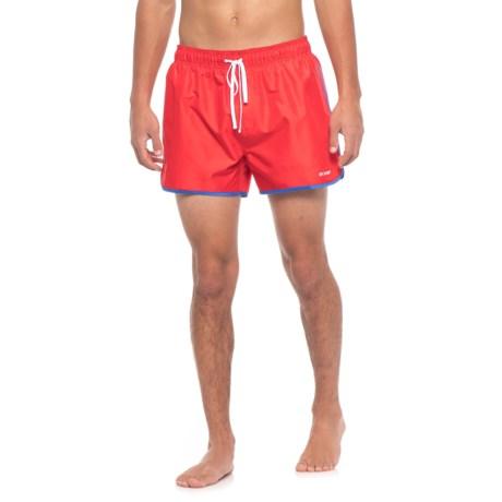 2(x)ist Jogger Swim Trunks - Built-In Briefs (For Men) in Red