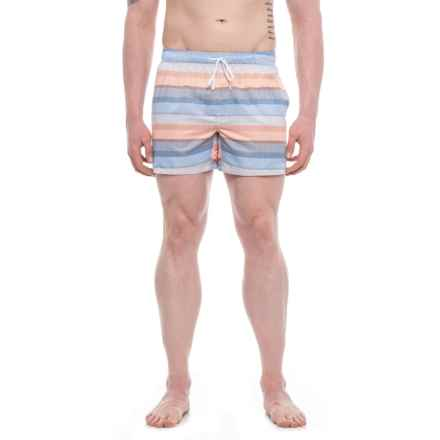 2(x)ist Malibu Puffins Bill Swim Trunks - Built-In Briefs (For Men) in Blue Multi - Closeouts
